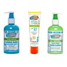 Tatil Bakım Seti  3 lü Ekopaket Bubbly-Lotion-Sunscreen