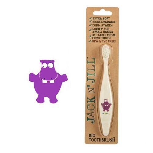 Doğal Çilek Macun , Fırça ve Bardak Set Hippo
