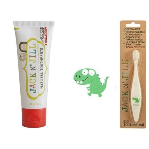 Doğal Macun Ve Fırça Set 2'li Dino