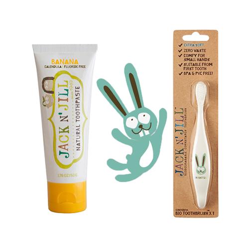 Doğal Macun Ve Fırça Set 2'li Bunny