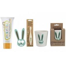 Doğal Macun , Fırça ve Bardak 3'lü Set Bunny