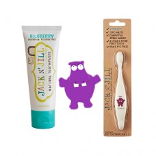 Doğal Macun Ve Fırça Set 2'li Hippo